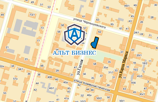 Схема проезда до АльтБизнес